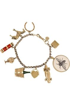 Annina Vogel bracelet has a chain, a designer-stamped tag, a clasp to fasten at wrist and comes in a multicolored designer-stamped pouch. Adorned with a colorful cluster of charms, Annina Vogel's 9-karat gold bracelet is a timeless keepsake..