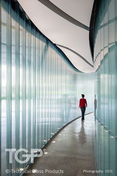 Pilkington Profilit channel glass hallway at USF, design by NBBJ Architects.