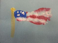 Footprint flag..too cute..just made with my class today