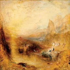 Joseph Mallord William Turner - Glaucus and Scylla. Tags: glaucus, glaukos, scylla, skylla, transformations,