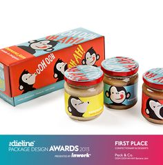 The Dieline Package Design Awards 2013: Confectionary, Snacks, & Desserts, 1st Place - OOH OOH AH AH! #packaging