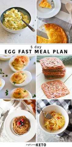 Egg fast meal plan for the Keto diet. What to eat on an egg fast and how it works. Egg fast meal plan for the Keto diet. What to eat on an egg fast and how it works. Egg Diet Plan, Ketogenic Diet Meal Plan, Keto Meal Plan, Diet Meal Plans, Ketogenic Recipes, Meal Prep, Real Food Recipes, Diet Recipes, Slimfast Recipes