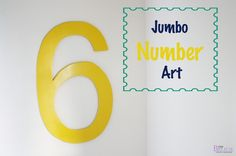 BeingBrook: Jumbo Wall Number Art