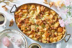 Yummy casseroles, Brunch dishes, Breakfast bake, Easy to make breakfast, Eat breakfast, Marley spoon - From springtime pastels to figural bunnies, Martha's home collections have everything you need to - #Yummycasseroles Easy To Make Breakfast, Breakfast Bake, Sausage Breakfast, Breakfast Recipes, Breakfast Casserole, Breakfast Ideas, Brunch Dishes, The Fresh, Vegetarian Recipes