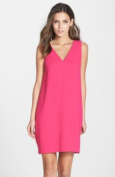Trina Turk 'Azure' Back Pleat Crepe Shift Dress available at #Nordstrom