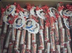 10ct Snow White Candy filled stix / tubes sweet candy by EMANON, $12.50