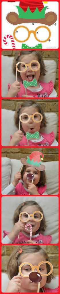 FREE Christmas Photo Props!! SUCH fun, my little girl couldn't get enough of it when we tried them out today!