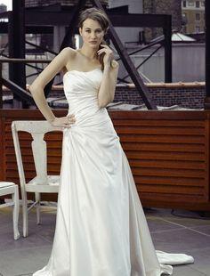 Bridal Gowns: Henry Roth A-Line Wedding Dress with Strapless Neckline and Asymmetric Waist Waistline