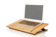 verstellbarer #Notebookstaender aus natürlichem #Bambus bei #FROSCHking...
