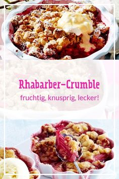 Bon Dessert, Dessert Recipes, Rhubarb Crumble, Evening Meals, Food Items, Chocolate Chip Cookies, Smoothie Recipes, Food And Drink, Favorite Recipes