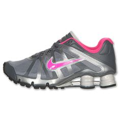 Nike Shox Roadster Women's Running Shoes | FinishLine.com | Stealth/Dark Grey/Black/Pink Flash