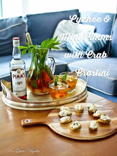 Friday Night Cocktails With Matt Preston & Lychee Mint PIMMS and Crab Crostini!