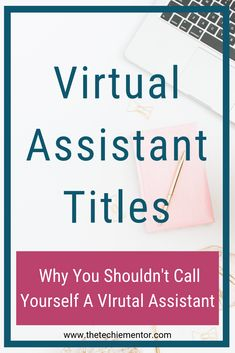 The Techie Mentor shares tips to help you start, launch and grow your Virtual Assistant Business. Don't call yourself a virtual assistant. Click through to discover why. Business Names, Business Tips, Online Business, Business Essentials, Business Software, Business Opportunities, Work From Home Business, Work From Home Jobs, Small Business Marketing