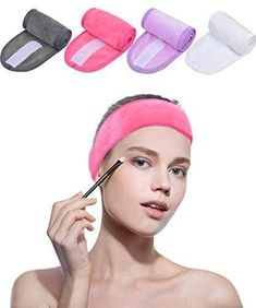 a81857f98f7 Sinland Spa Headband Makeup Hair Band For Face Care Mask Makeup Sports 4  Pack  fashion