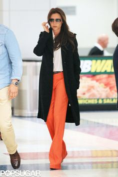 Victoria Beckham Brightens Up the Big Apple on a Gloomy Day: Victoria Beckham arrived in NYC.