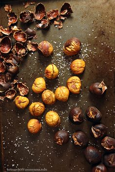How to Roast Chestnuts in Your Oven   www.insearchofyummyness.com   #chestnuts #roasted #snack