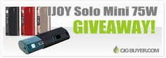 Enter to Win an Ijoy Solo Mini 75W Mod from @cigbuyer http://www.cigbuyer.com/ijoy-solo-mini-mod-giveaway/ #vaping #ijoysolo #solomini #vapelife #vapecontest #vapegiveaway