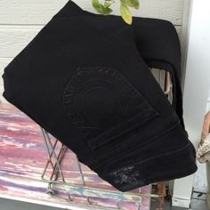True Religion Jeans Sexy, midnight black straight leg jeans in a softer denim. Never worn. Pet/smoke free home. True Religion Pants Straight Leg