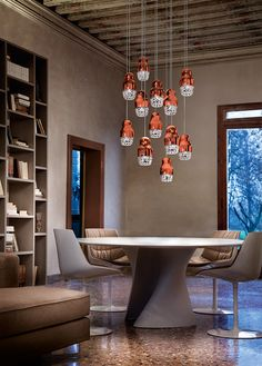 Contemporary Chandeliers For Dining Room Beauteous Poc Suspension Lamp Contemporary Dining Room Lighting Design At Inspiration