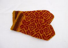 hand knitted wool mittens latvian mittens by peonijahandmadeshop, $43.50