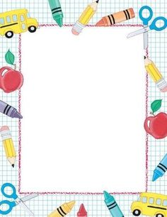 School theme paper from great papers. text x 11 paper with school theme. Borders For Paper, Borders And Frames, Simple Borders, Page Boarders, Letterhead Paper, Printable Border, School Border, Boarder Designs, Border Ideas