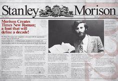 Stanley Morison Times New Roman Stanley Morison