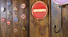 Crochet panneau de signalisation rétro : Sens interdit