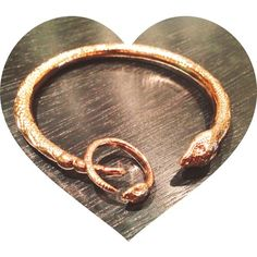 for Valentines Day, rose gold serpent ring and bangle