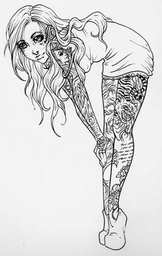 pin up girl tattoo designs - Google Search - 1000+ images about Coloring Pages on Pinterest