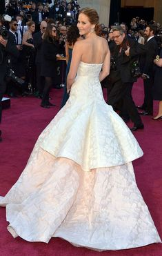Jennifer Lawrence in Dior at the Academy Awards 2013