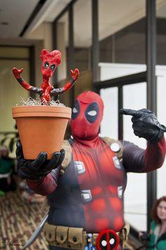 Deadpool, with Deadpool Groot
