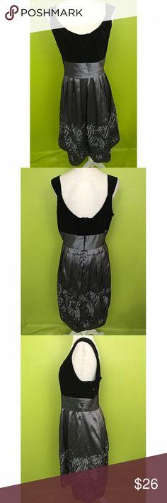 "R&M Richards Low Back Satin Belt Black Dress 16 B1149  Bust - 46"" Waist - 36"" Length - 41""  R&M Richards, Sleeveless, Deep Scoop Neck, Zippered Low Back, Pleat Top, Satin Sash Belt, Flared, Pleat Satin Swirl, Accent Hem Lined, Black Dress  Free shipping on orders over $75 R&M Richards Dresses"
