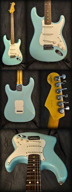 Fender Custom Shop Stratocaster Pro Relic Guitar   Daphne Blue