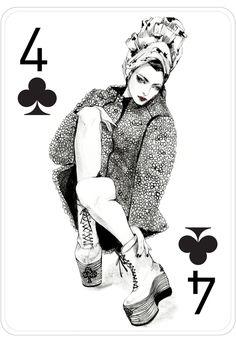 Fashion Playing Cards by Connie Lim by Connie Lim, via Behance