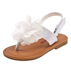 fe05f6f79d19b4 Baby Girls Toddler Bow T-Strap Sandal - Metallic Sandals - The ...