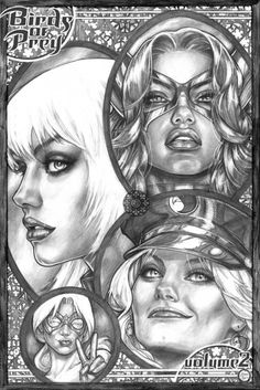 Birds of Prey -pinup- by AdrianaMelo on DeviantArt Black White Art, Black And White Drawing, Dc Comics Girls, Arrow Black Canary, Pin Up Illustration, How To Make Comics, Female Stars, Birds Of Prey, Cool Cartoons