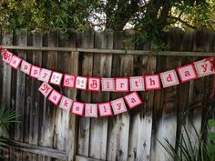 Strawberry Shortcake Party Banner by DragonFlyPapier on Etsy, $30.00