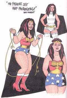 Maggie Chascarillo from Jaime Hernandez's Love and Rockets as Wonder Woman