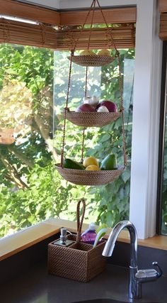 3 tier hanging baskets for fruit and veggies