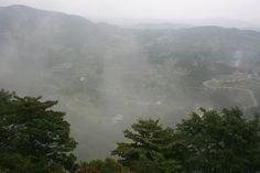 Mist at Yamakoshi village in Niigata prefecture