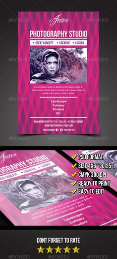Jaten Photography Studio Flyer Template - graphicriver sale