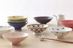 Japanese rice bowl designed by Masahiro Mori 白山陶器 平茶碗