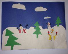 Fun winter landscape craft from @Home Art Studio