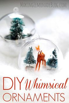 DIY Whimsical Woodland Ornaments