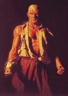 MAN OF BRONZE (REVISED) James Bama Doc Savage Bantam Books painting.