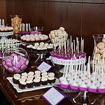 Purple Dessert Table by cocoa & fig