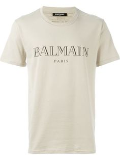 BALMAIN Logo T-Shirt. #balmain #cloth #t-shirt