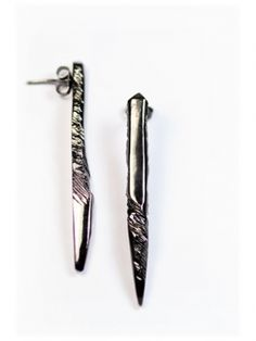 Reverence Earrings gunmetal $285