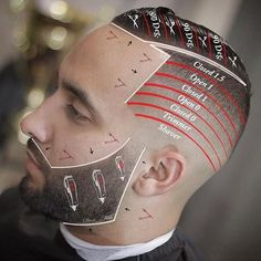 40 Best Skin / Bald Fade Haircut : What is it and How To Do Skin Fade Haircut. Skin Fade With Beard, Beard Fade, Fade Skin, Barber Tips, Short Hair Cuts, Short Hair Styles, Hair Cutting Techniques, Barbers Cut, Mohawk
