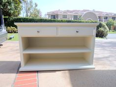 Shabby Chic Console Table Media Piece or Bookshelf Los Angeles by HouseCandyLA, $350.00